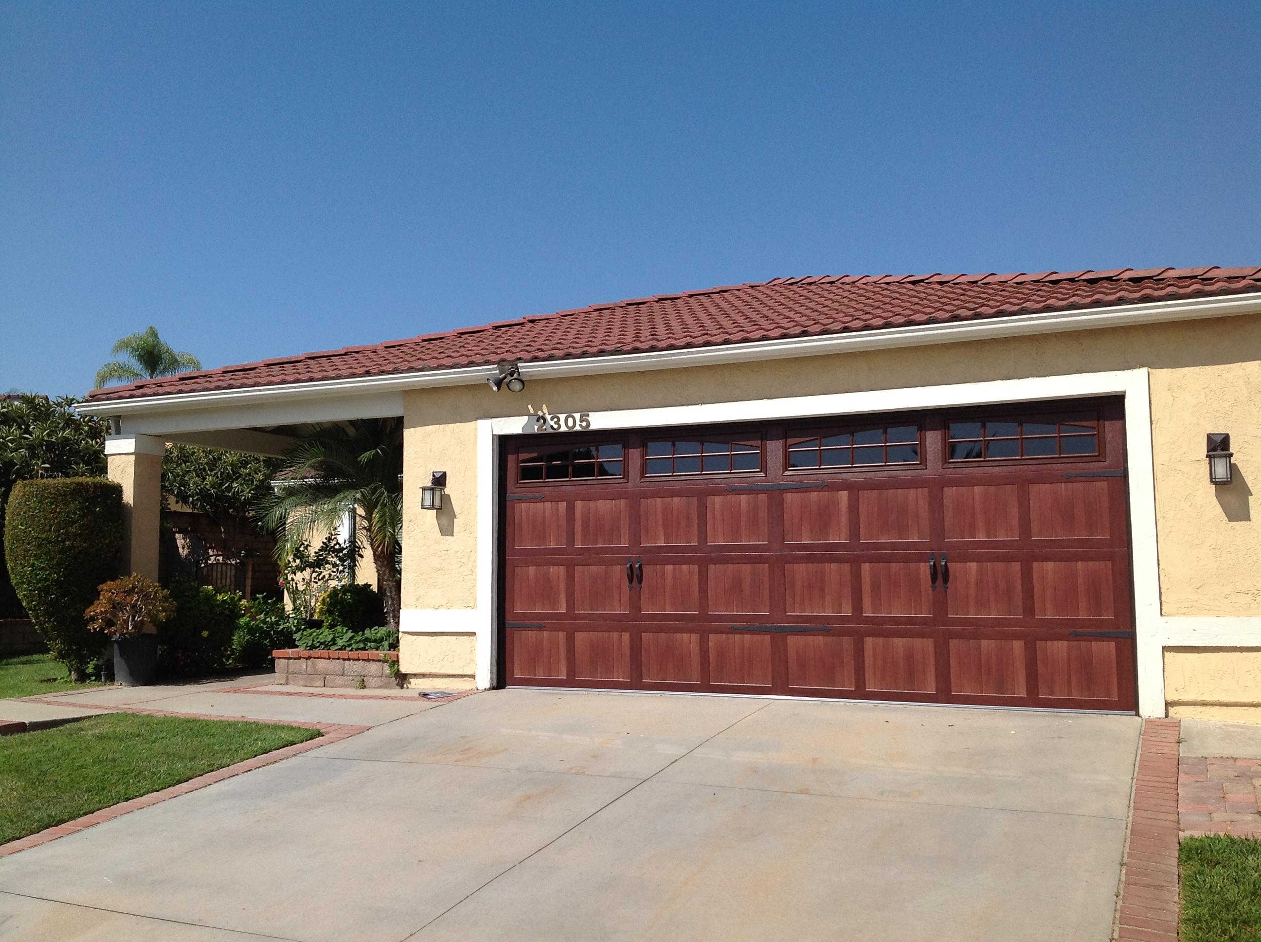 1936 #3B6390 CHI Accent Mahogany Door 1garagedoor picture/photo Chi Residential Garage Doors 36292592